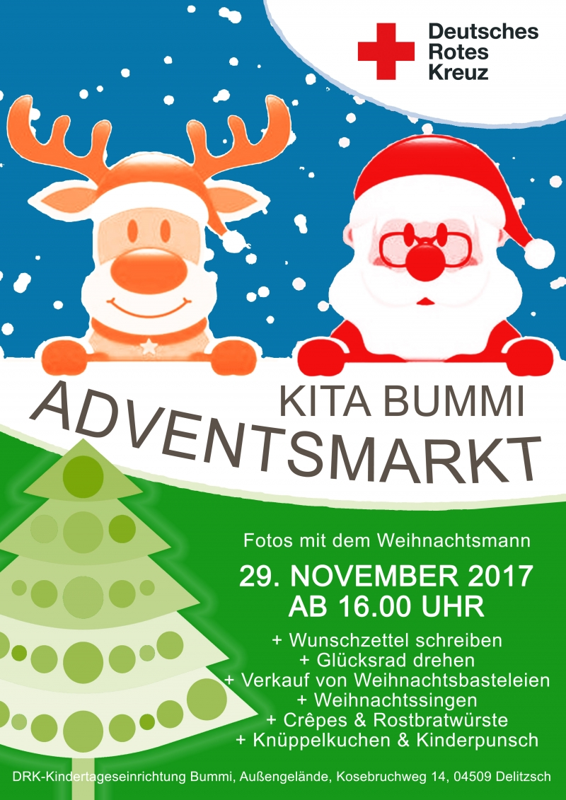 Kita Bummi-Adventsmarkt am 29. November 2017